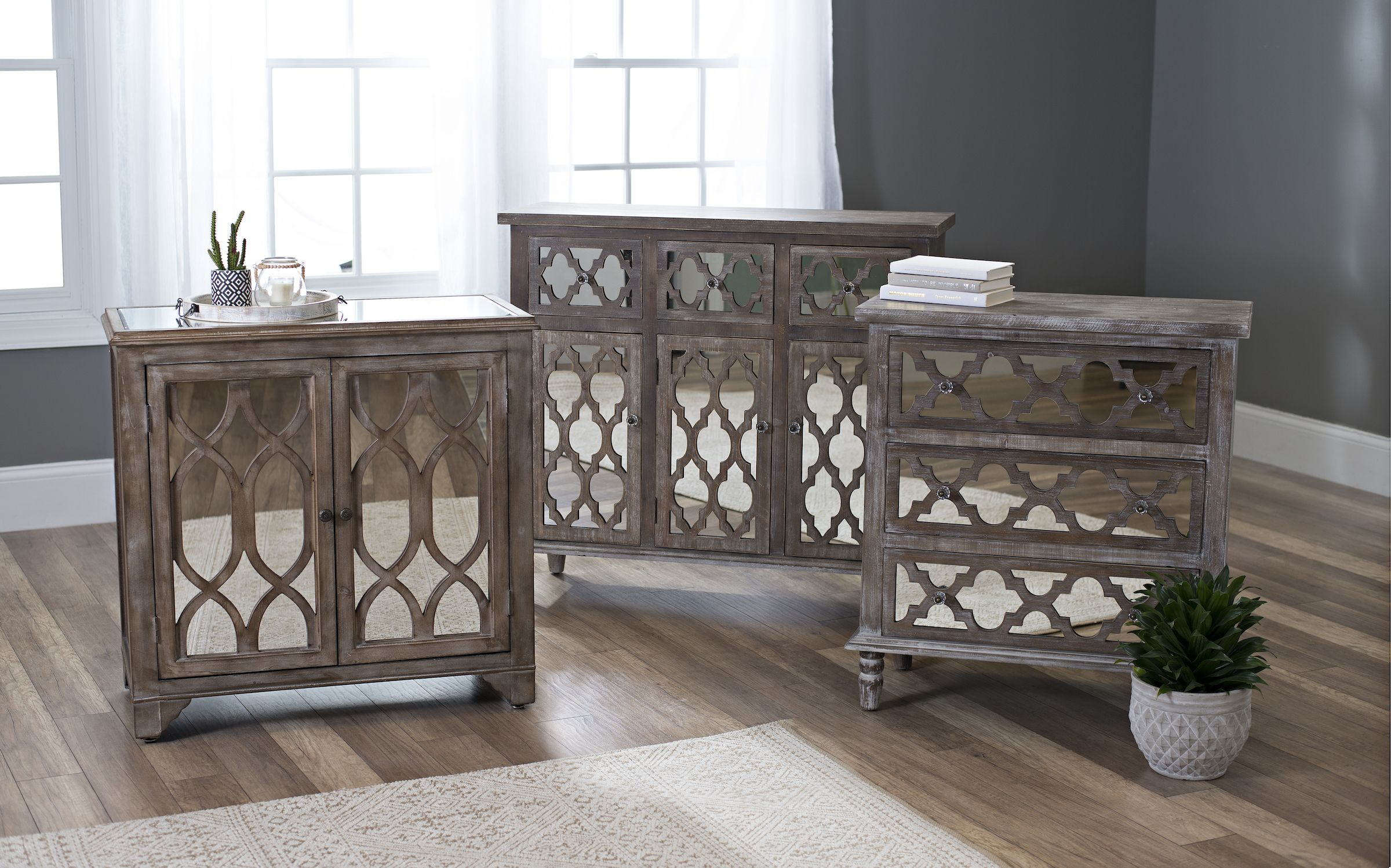 Shop our collection of mirrored furniture on sale now