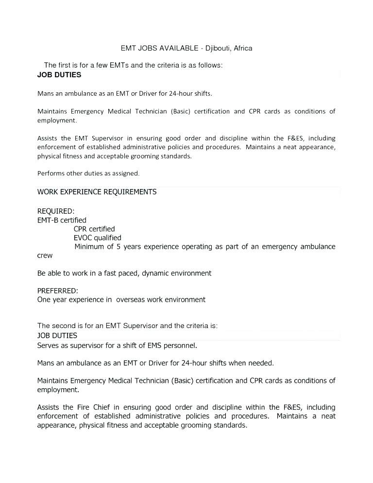 Emt b resume examples resume templates lebenslauf