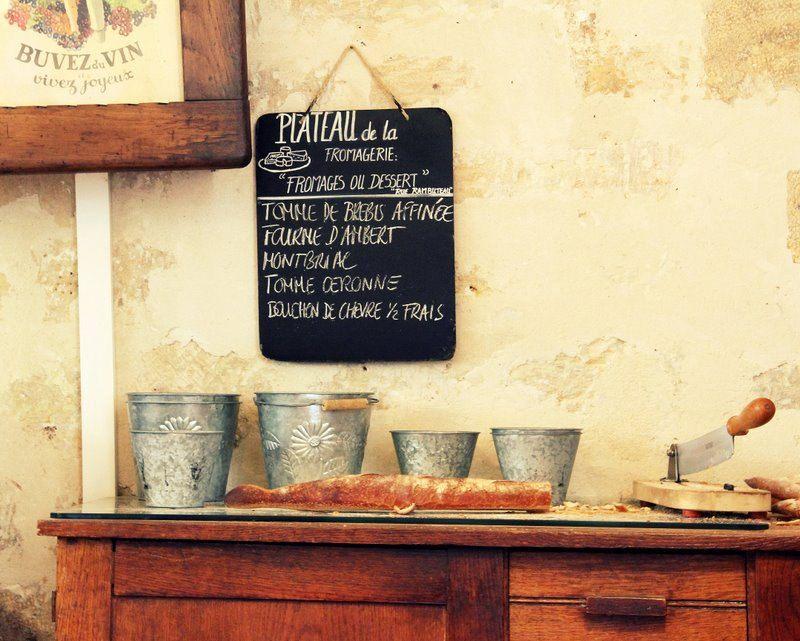 Baguette and Cheese Menu at Paris Bistro - Paris, France - Fine Art ...