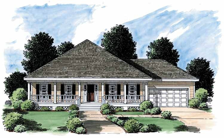 Cottage Style House Plan 3 Beds 2 Baths 1500 Sq Ft Plan 37 131 Cottage Style House Plans Coastal House Plans Low Country Homes