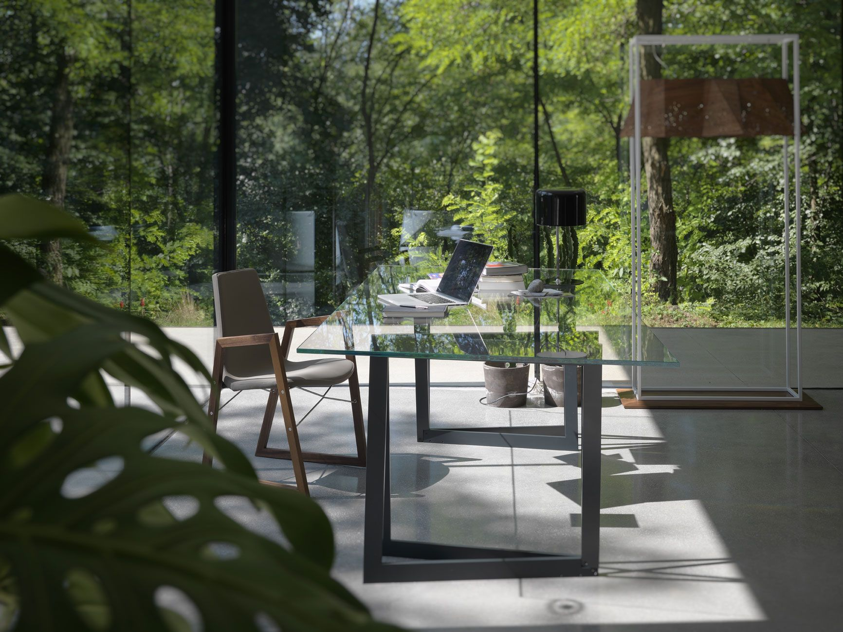QUADROR 02 / Design: Dror, 2015 /\/\/\ RAY ARMCHAIR / design: Orlandini Design /\/\/\ RIDDLED LIGHT / Design: Steven Holl, Mario Bellini