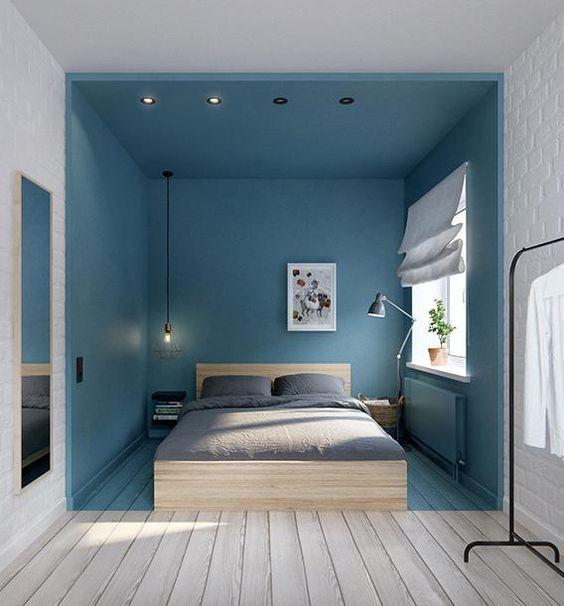 Ausflug Ins Blaue Ideen Fur Kleine Schlafzimmer Kleines