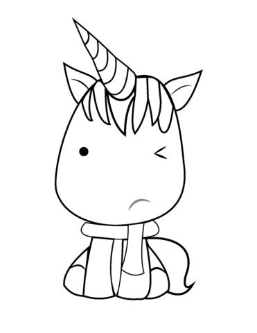 Kawaii Unicorn Coloring Page Unicorn Coloring Pages Kawaii Unicorn Cute Coloring Pages