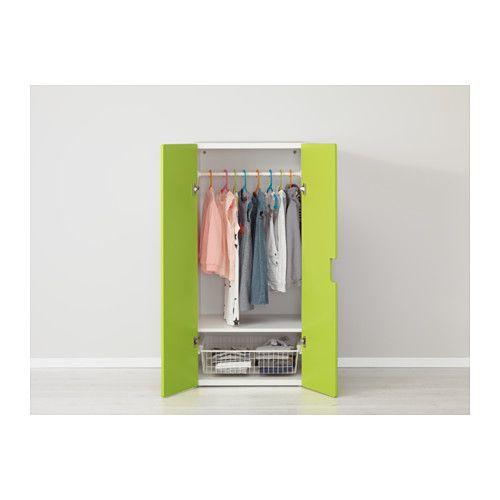 STUVA Aufbewahrung mit Türen - weiß/grün - IKEA | Kinderzimmer ...
