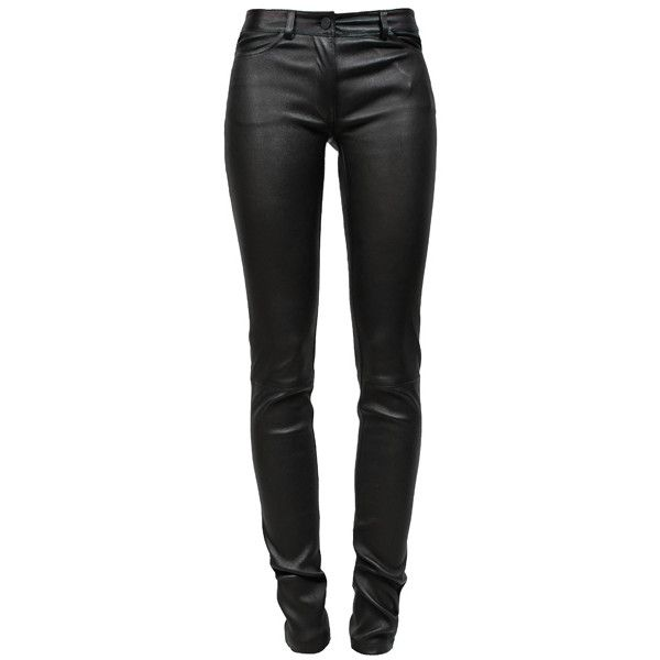 ALEXANDER WANG T Stretch Leather Jeans (8.170 DKK) ❤ liked on Polyvore