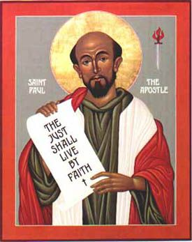 St. Paul the Apostle of Mary Icon by Nicholas Markell