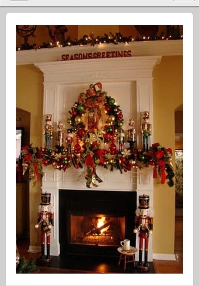 Pin by barbara sweet on Christmas Wreaths Pinterest Christmas - christmas fireplace decor