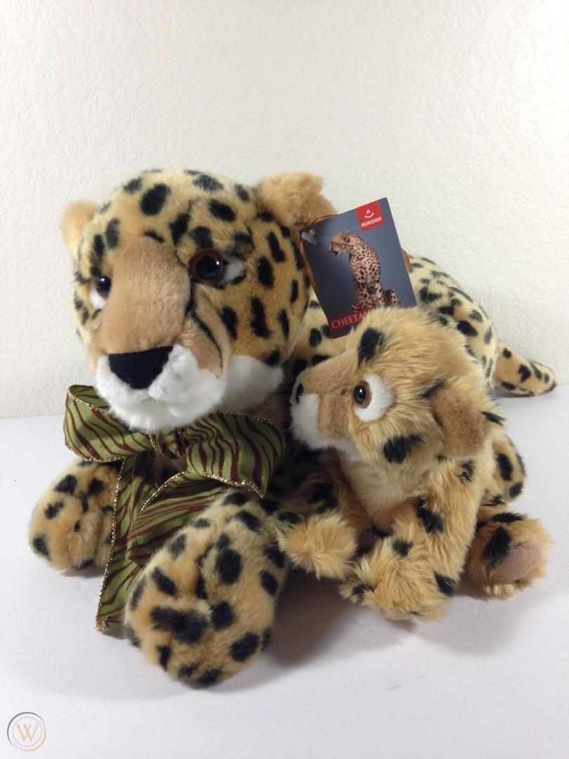Predownload: Aurora Cheetah Plush Mama Baby 23 Plush Cat Plush Plush Animals Plush [ 1080 x 810 Pixel ]