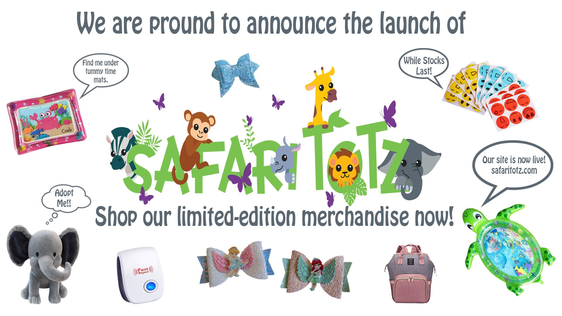 Please Check Out Our Website Safaritotz Com We Have Just Gone Live And Need Your Support Please Share Product Launch Supportive