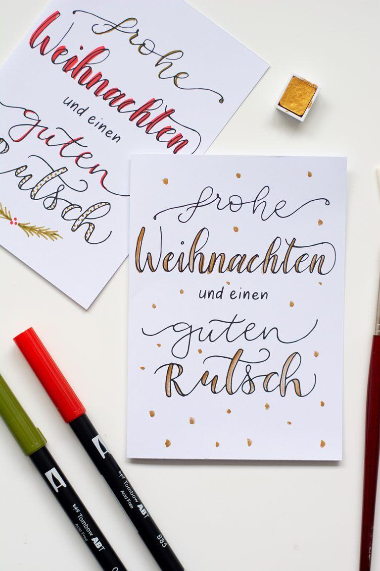 Freebie: Weihnachtskarte zum Individualisieren - we love handmade