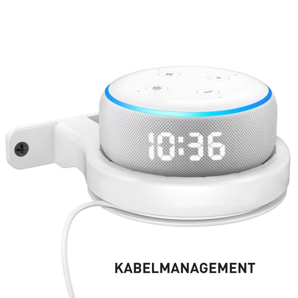 Delidigi Wandhalterung F R Dot Abs Halterung Dot St Nder Regal F R Echo Dot 3rd Gen Mit Kabelmanagement Platzspa In 2020 Electronic Products Echo Dot Smart Assistant