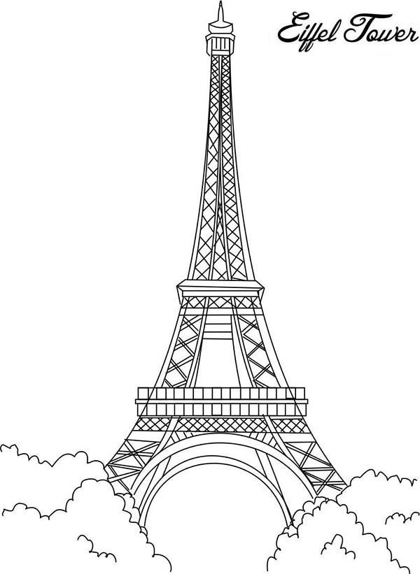 Eiffel Tower Eiffel Tower Is The Proud Of France Coloring Page