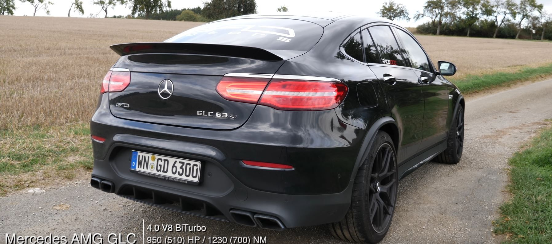 Mercedes Amg Glc 63 S Coupe By Gad Motors Fires 950 Hp 708 Kw