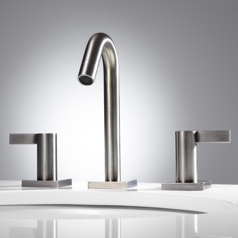 Flair Widespread Bathroom Faucet - No Overflow - - Satin Nickel ...