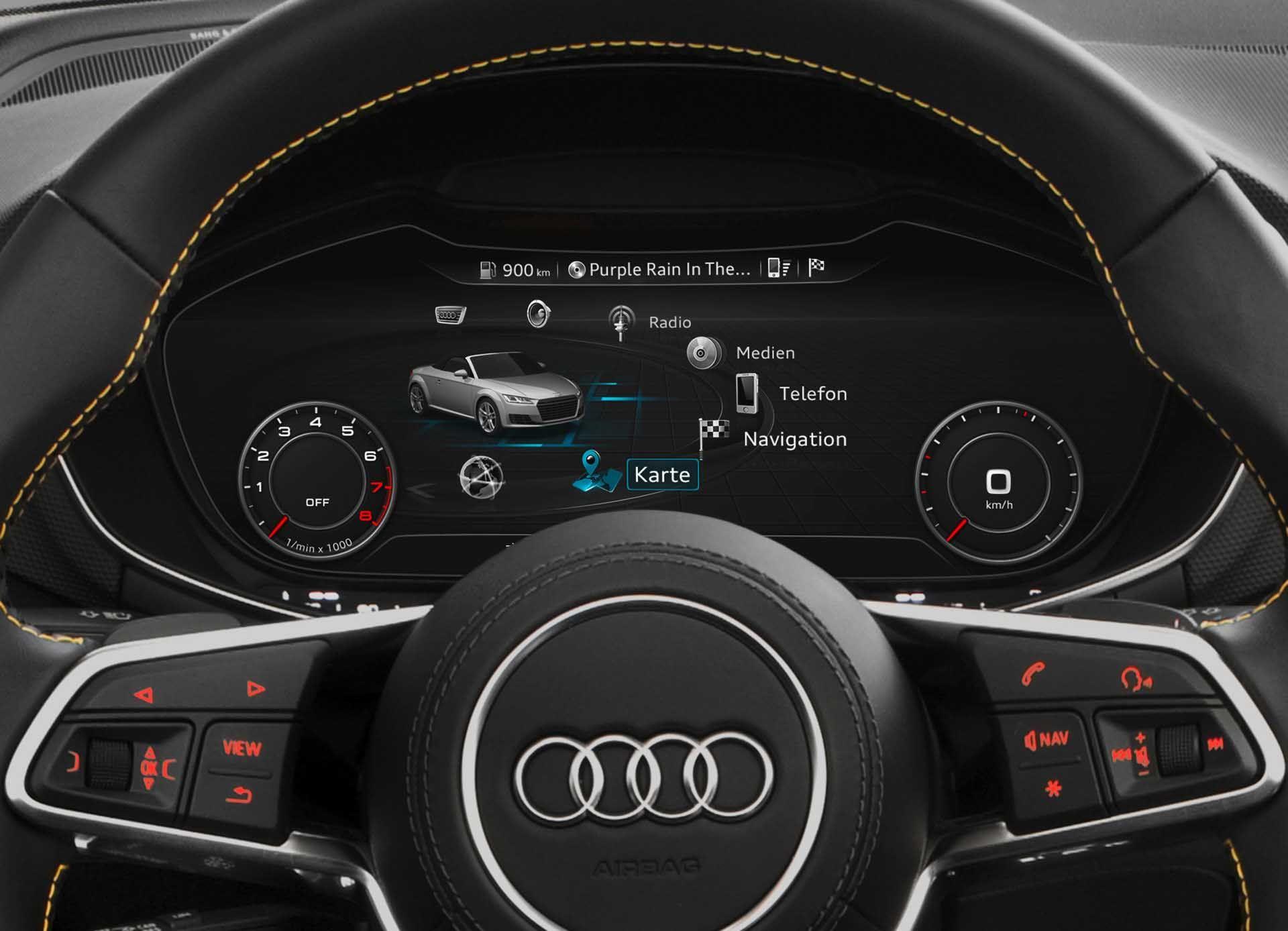 Download Impressive 2015 Audi Tts Roadster Steering Wheel 1 Mobile Wallpaper Full Size 1264
