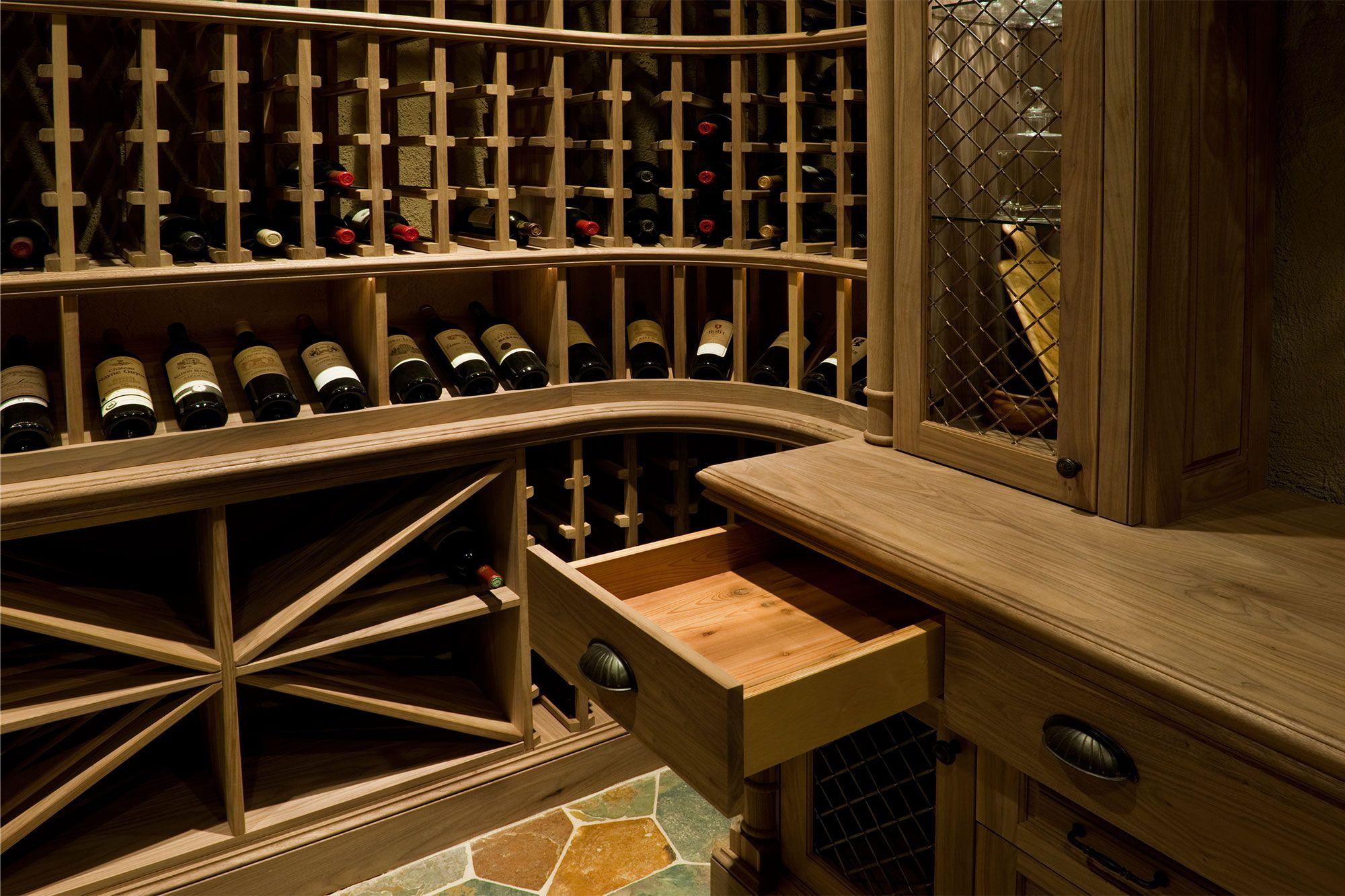 Elegant Cedar Finishing Inside Furniture Grade Wine Cellar