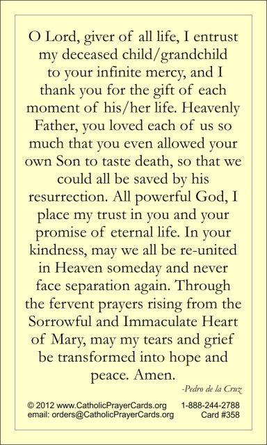 Catholic prayers grieving