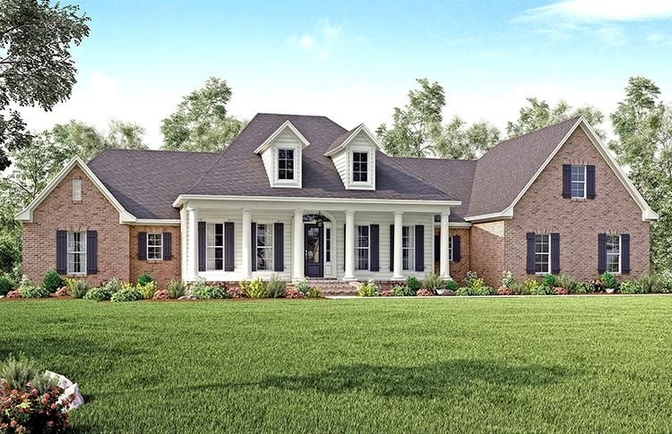 House Plan 041 00139 Country Plan 3 194 Square Feet 4 Bedrooms 3 5 Bathrooms Country Style House Plans Country House Plans Southern House Plans