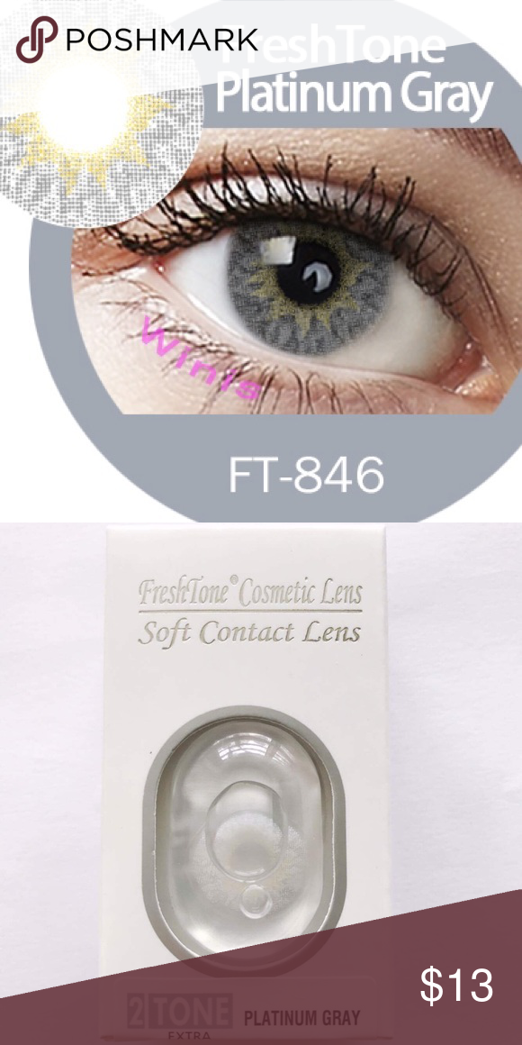 c1a5d06f58 Contact Lenses (Platinum Gray) FreshTone FREE CASE! SHIP DAILY! ✈ 1