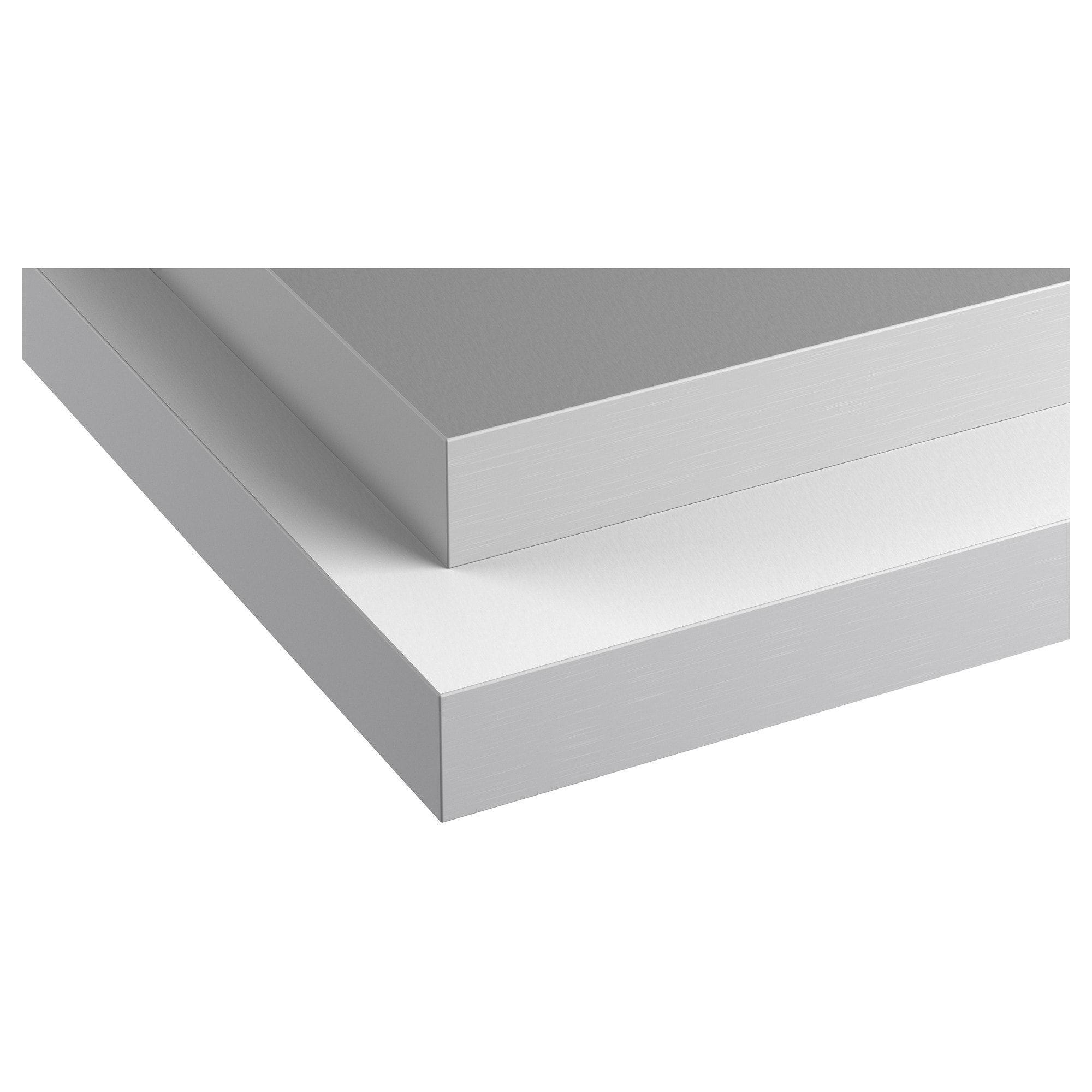 Hallestad Arbeitsplatte Doppels Weiss Aluminiumfarben