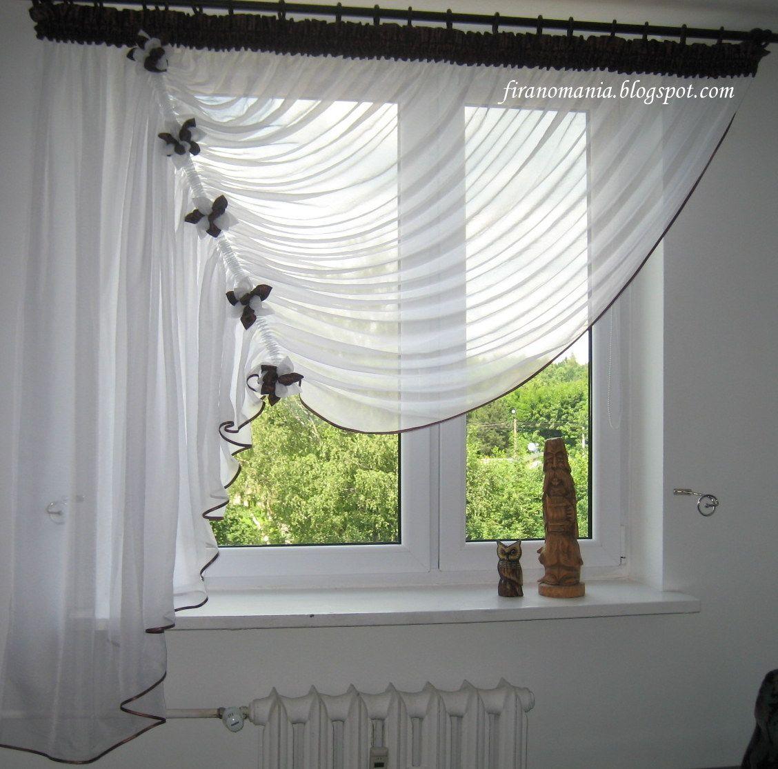 Fenstergestaltung Wohnzimmer Ideen: Nowy Wzór... (firanomania)