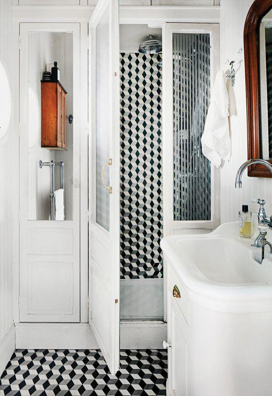 Floor To Ceiling Tile Bathroom Trend Design Ideas Bathroom Trends Black And White Bathroom Floor Bathroom Floor Tiles