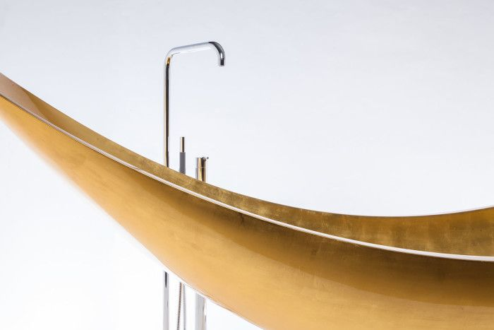 Vessel Gold Hammock Bathtub By Splinter Works