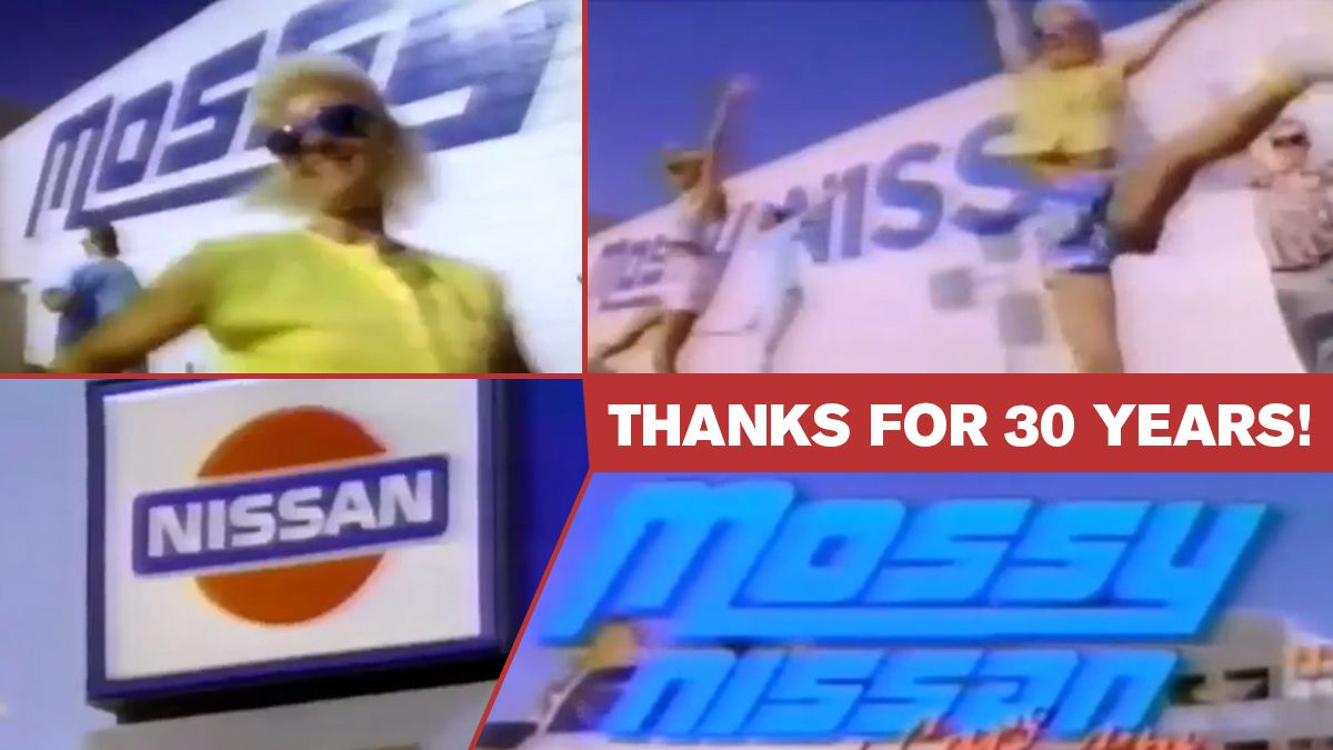 LIVE LONG AND PROSPER! The MOSSY NISSAN jingle is 30 YEARS