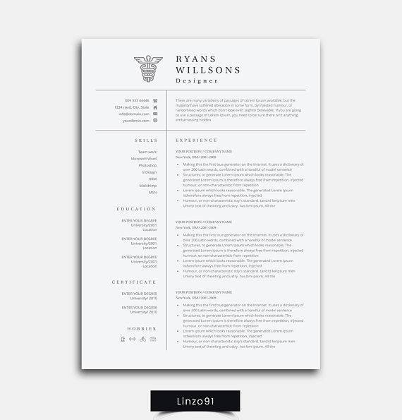 resume  medical student resume    modern resume template