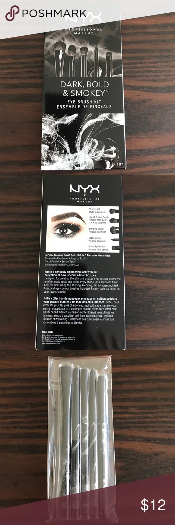 NYX Professional Dark, Bold & Smokey eye brush kit Eye