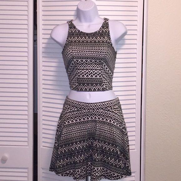 Material girl Skater Skirt set Mid drift... Lordes designs Material Girl Skirts Skirt Sets