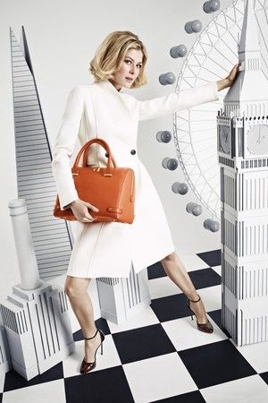 Rosamund Pike on the ad for L.K. Bennett  2013 Autumn/Winter collection