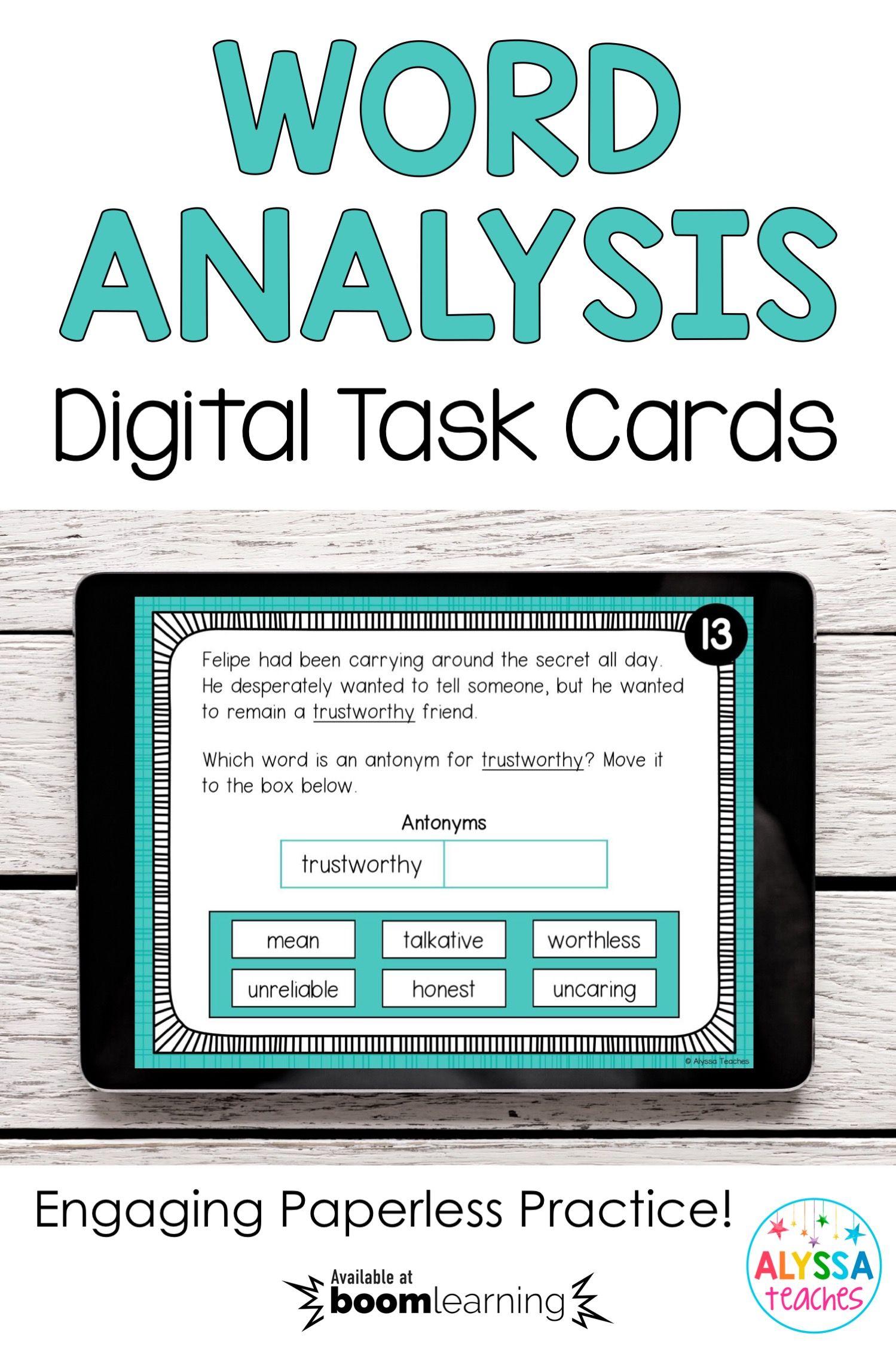 Wordysis Task Cards Sol 4 4
