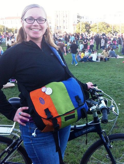 A colorful Timbuk2 spotted in Dolores.