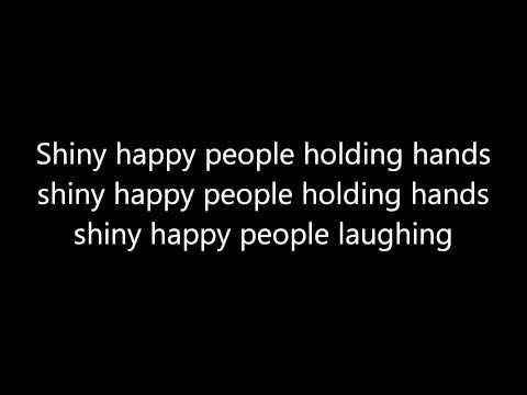 R E M Shiny Happy People Lyrics Youtube Shiny Happy People