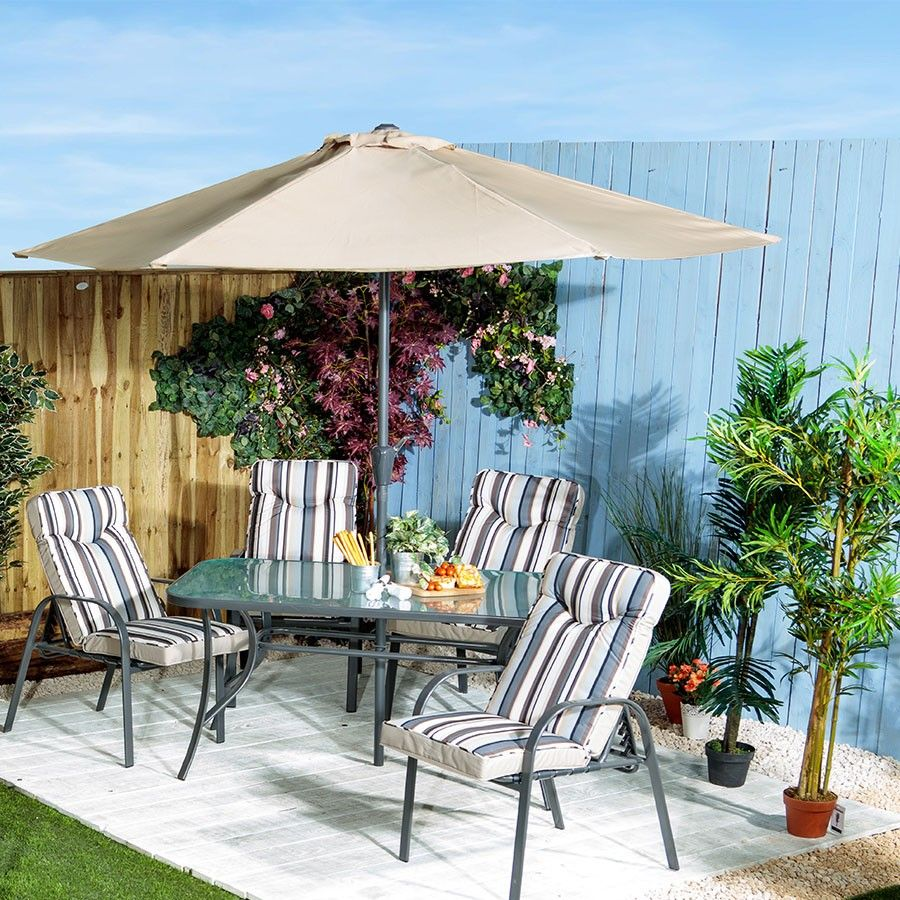 Provence 4Seater Rectangular Outdoor Dining Set with