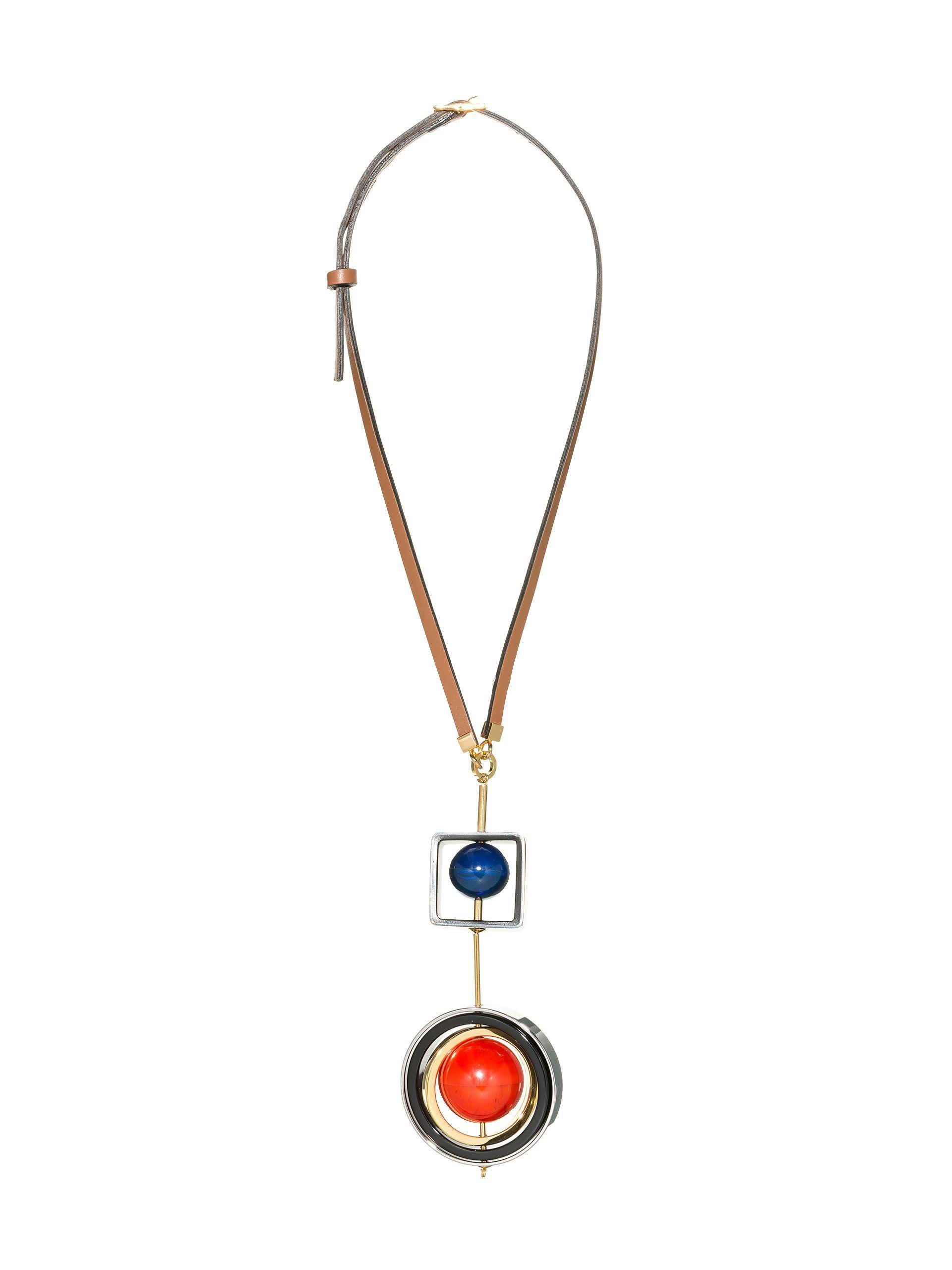 Marni geometric shapes double necklace - Metallic rqRyjRYN