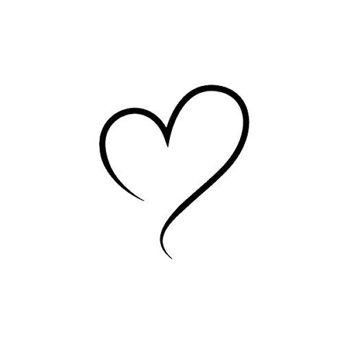 Semi Permanent Heart Tattoos Tattoos By Inkbox Inkbox Simple Heart Tattoos Tiny Heart Tattoos Love Heart Tattoo