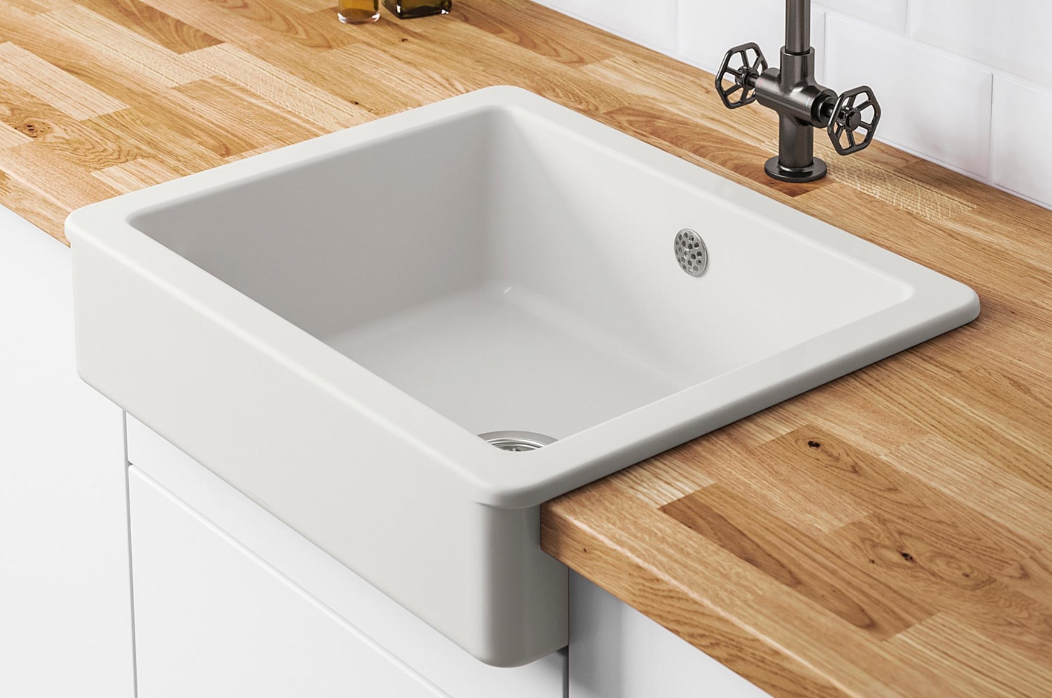 Havsen Zlew Z Widocznym Frontem Bialy Dodaj Do Listy Zakupow Ikea Ikea Sink Home Decor