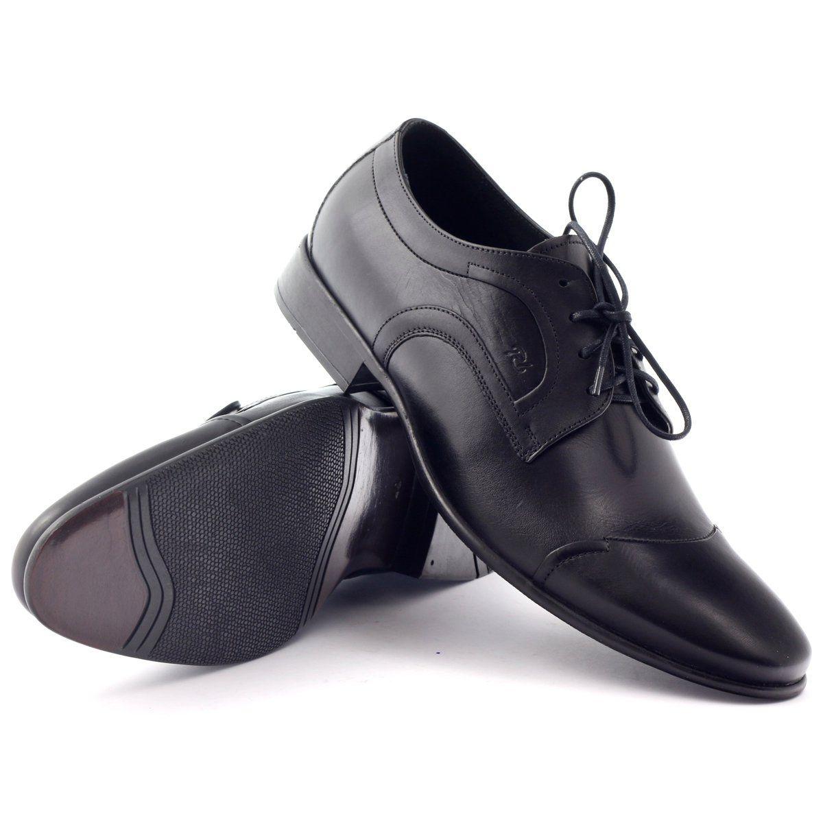 Polbuty Skorzane Buty Meskie Pilpol 1262 Czarne Leather Shoes Men Shoes Mens Men S Shoes