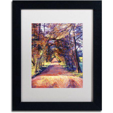 Trademark Fine Art Southern France Country Canvas Art by David Lloyd Glover, White Matte, Black Frame, Size: 11 x 14