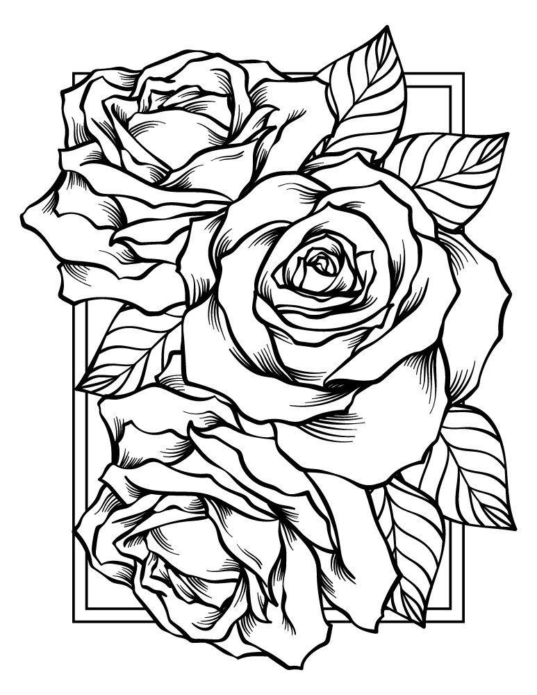 Quatang Gallery- Bonne Fete Des Meres Carte Bouquet De Roses Kleurplaten