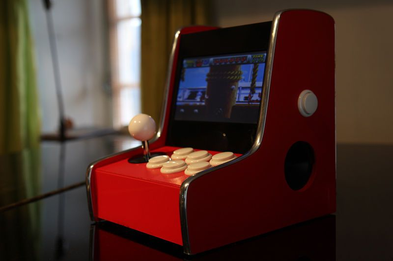 Custom designed and built retropie mini bartop arcade cabinet ...