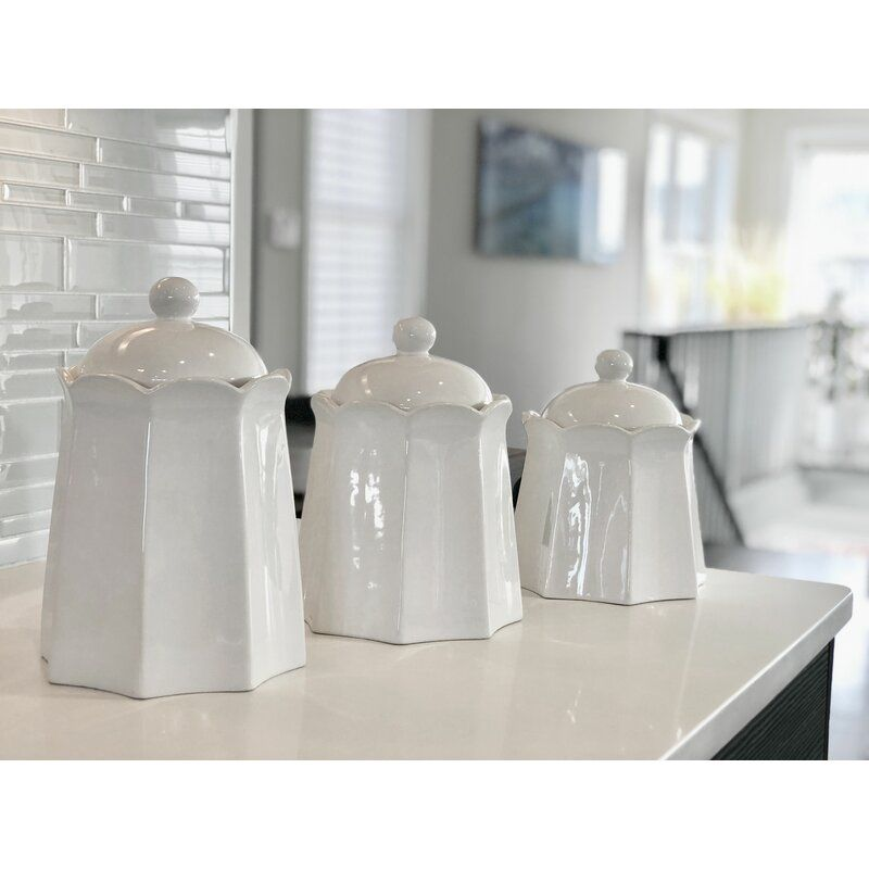 Farm 3 Piece Kitchen Canister Set In 2020 Canister Sets Kitchen