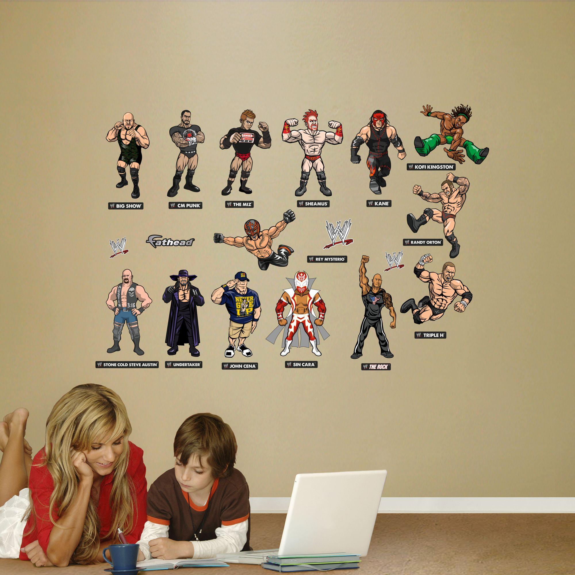 Wwe Kids Collection Wwe Kids Wrestling Wall Decal Sticker Wwe Bedroom Wwe