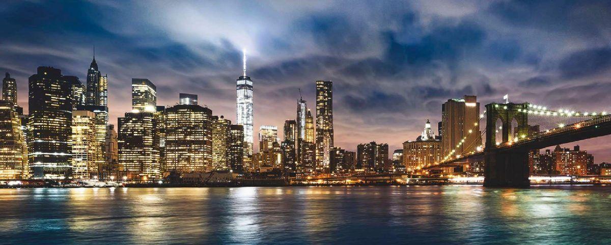 Home affaire Glasbild »New York City - Sonnenaufgang über Manhattan ...
