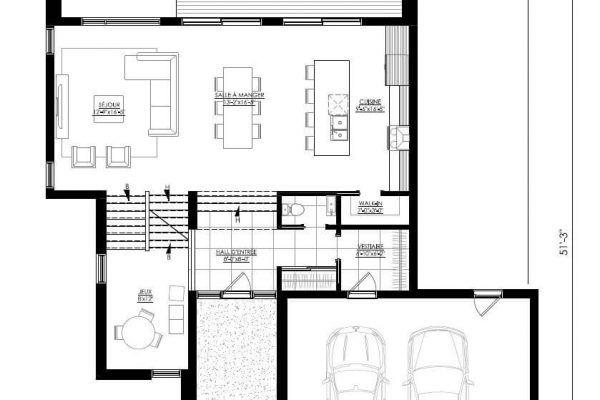 Plan de Maison Moderne Ë_136 Leguë Architecture Prochaine maison