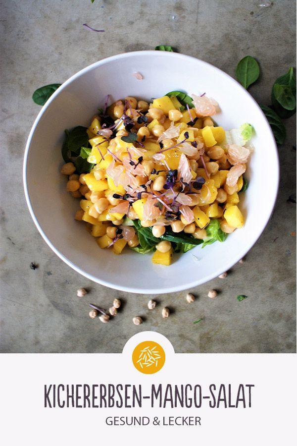 Kichererbsen-Mango-Salat Kichererbsen-Mango-Salat: Einfach, lecker und schnell! Eignet sich super als Meal-Prep! Guten Reishunger!