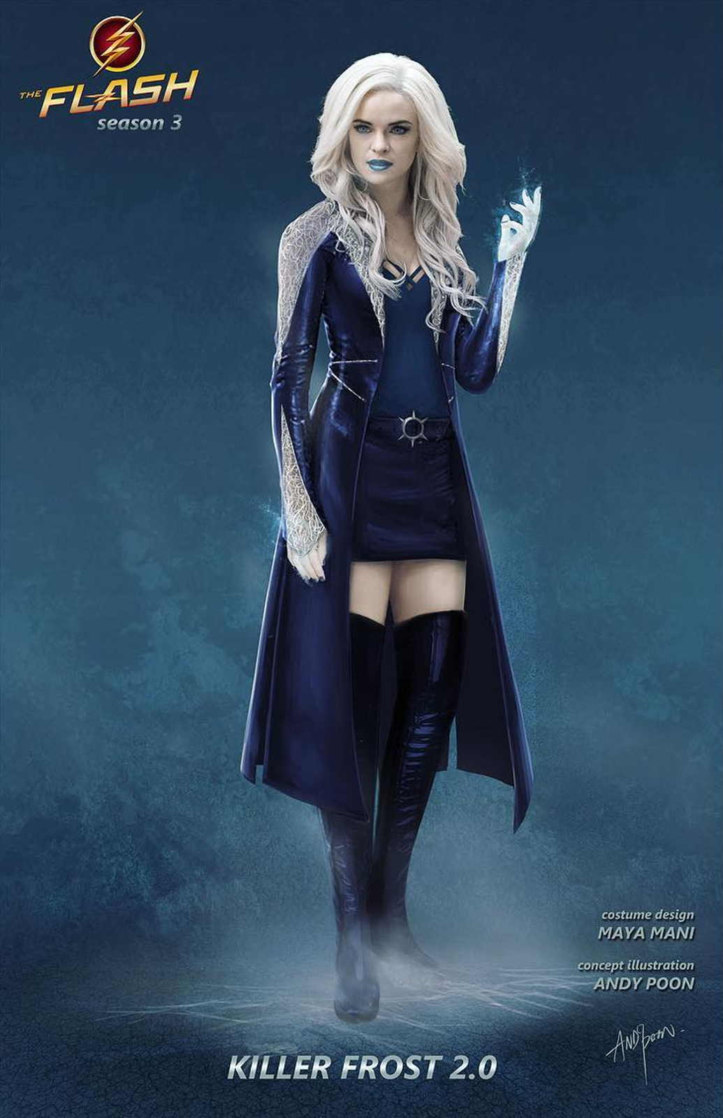 Hot Cakes The Flash Season 3 Killer Frost Cosplay Costumes