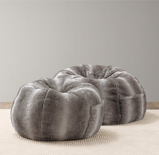 Luxe Faux Fur Bean Bag | Playroom Accessories | Restoration Hardware Baby U0026  Child Pictures
